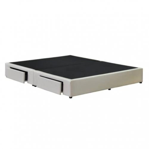 Two Drawers Storage Divan (Faux Leather / Fabric)