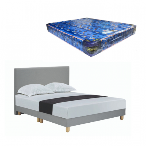 Geleen Bedframe and Foam Mattress (Queen)