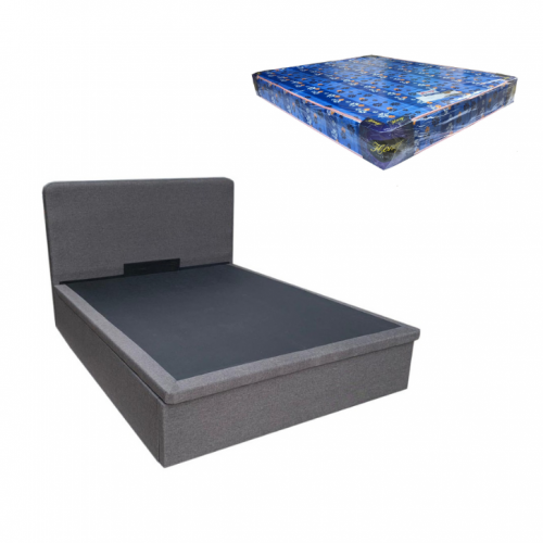Bonn Storage Bed and Foam Mattress (Queen)