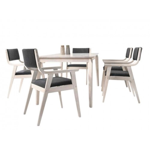 Falla Dining Set (1T + 6C)
